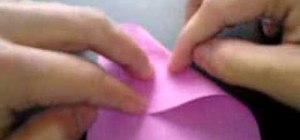 Fold an origami magic rose cube