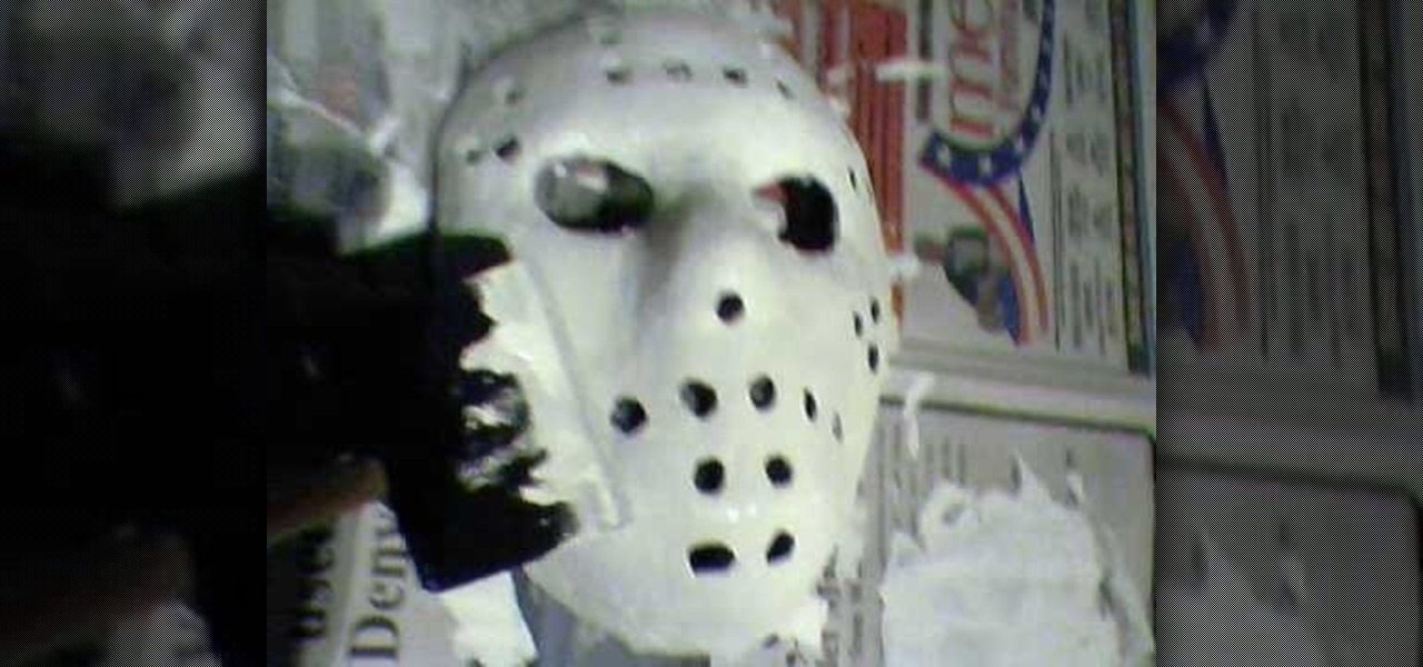 How to Make a Jason Voorhees mask for Halloween or other scary ...