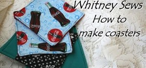 Make eccentric fabric coasters with Whitney Sews