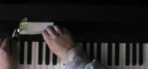 Teach hand position on the piano