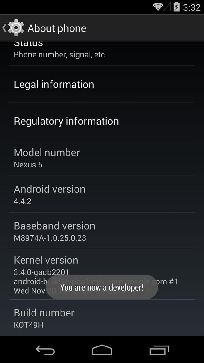 Android 5.0 nexus 5