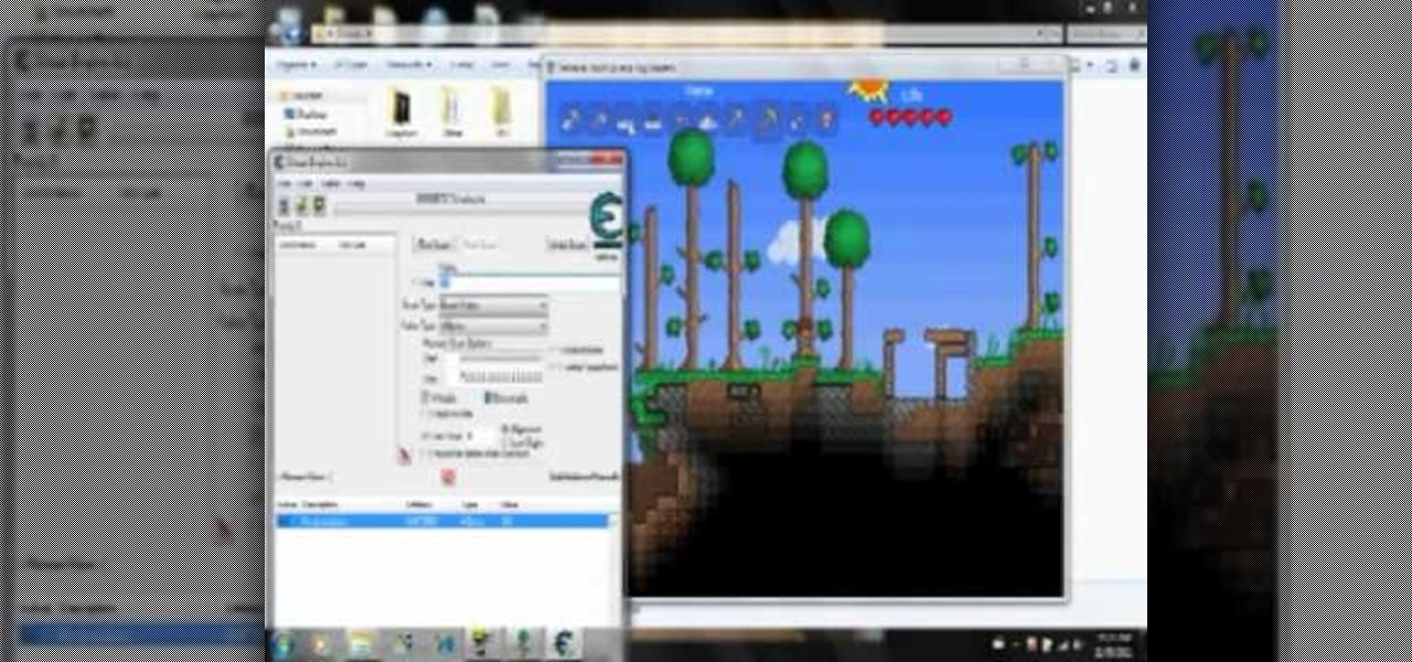How to hack terraria for unlimited health mana and items 171 pc games