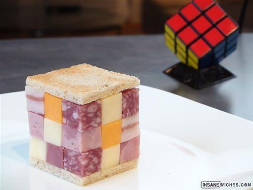Image result for rubik's cube sandwich