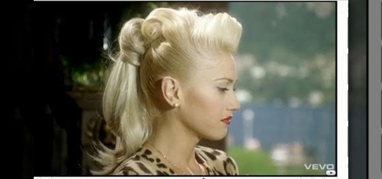 How To Create Gwen Stefani S Retro Ponytail From Quot Cool