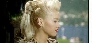 "Create Gwen Stefani's retro ponytail from ""Cool"""