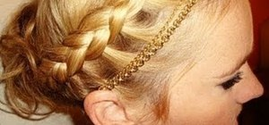 Create a beautiful braided Greek goddess updo for fall
