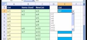 Make a shrinking data validation list in MS Excel
