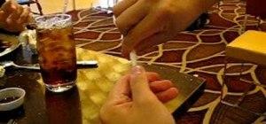 Make a paper rose in a restaurant