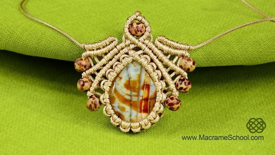 DIY Macrame Pendant with Gemstone