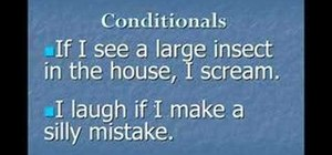 Use conditionals in the English language
