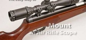 Mount an air rifle scope