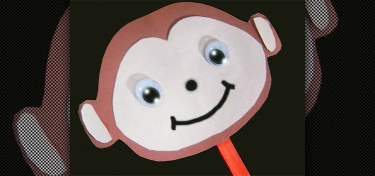 How to Make a simple paper monkey stick puppet with your kids « Kids Activities  WonderHowTo & How to Make a simple paper monkey stick puppet with your kids « Kids ...