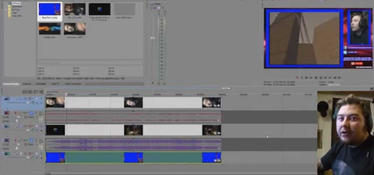 Put Cams in Gaming Videos with Sony Vegas 12 and OBS