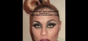 "Create Lady Gaga's ""bear cape"" scene makeup look from ""Bad Romance"""