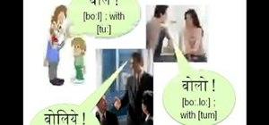 Use Hindi verbs and prepositions