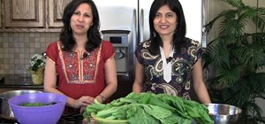 Make Punjabi mustard greens