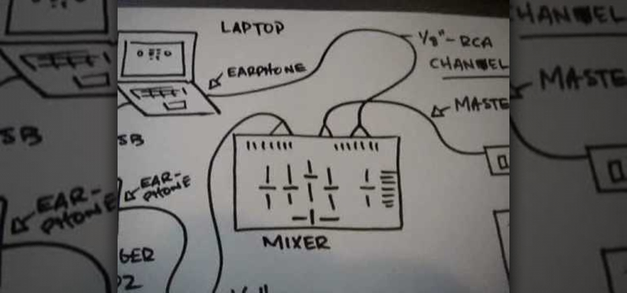 how to connect your laptop to your dj mixer dj turntablism rh turntable dj wonderhowto com dj system wiring diagram dj system wiring diagram