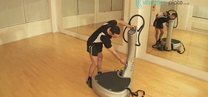 Use the control panel to set up your Power Plate