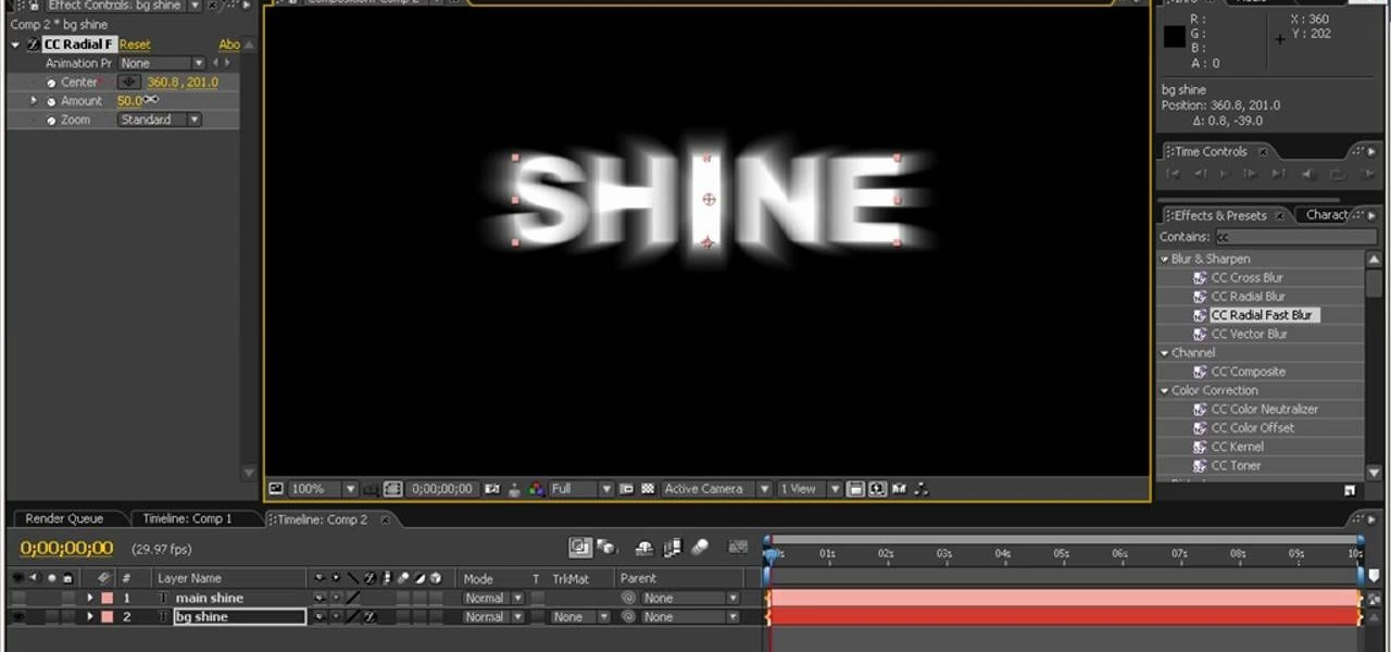 how to make text glow in premiere