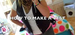 Make a vest out of an old men's shirt