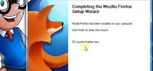 Download & install Firefox v3.5