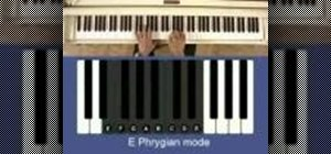 Play scales in the Phrygian mode on the piano