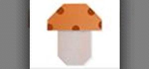 Origami a toadstool mushroom Japanese style