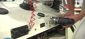 Install a switch panel on a boat