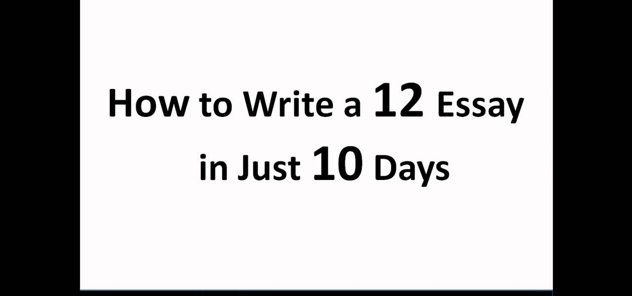 How to write a great essay for the sat