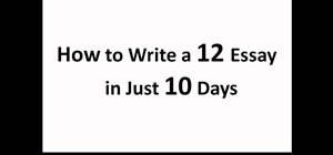 Write a great essay for the SAT test