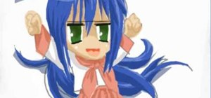 Draw Konata from the manga Lucky Star