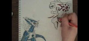 Draw Palkia vs Dialga from the Pokemon video game