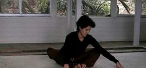 Practice the yin yoga butterfly pose