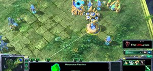 Build a Protoss 2 gateway robo build in StarCraft II