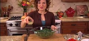 Make a Mediterranean kale salad for a raw diet