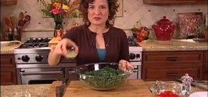 Make a Mediterranean kale salad for a raw diet