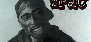Create an artistic portrait drawing of Tupac Shakur (aka 2Pac or Makaveli)