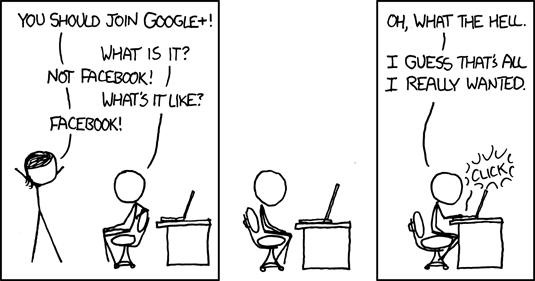 Randall Munroe of XKCD: Why Does Google+ Require Public Gender Disclosure?