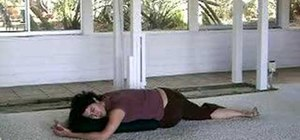 Relax with a restorative yoga spinal twist