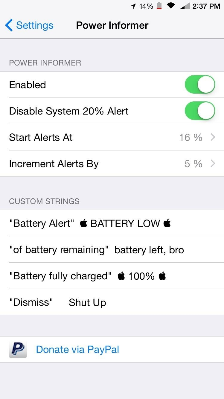 Take full control over low battery alerts on your iphone 171 ios