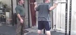 Do a proper overhead squat with a barbell