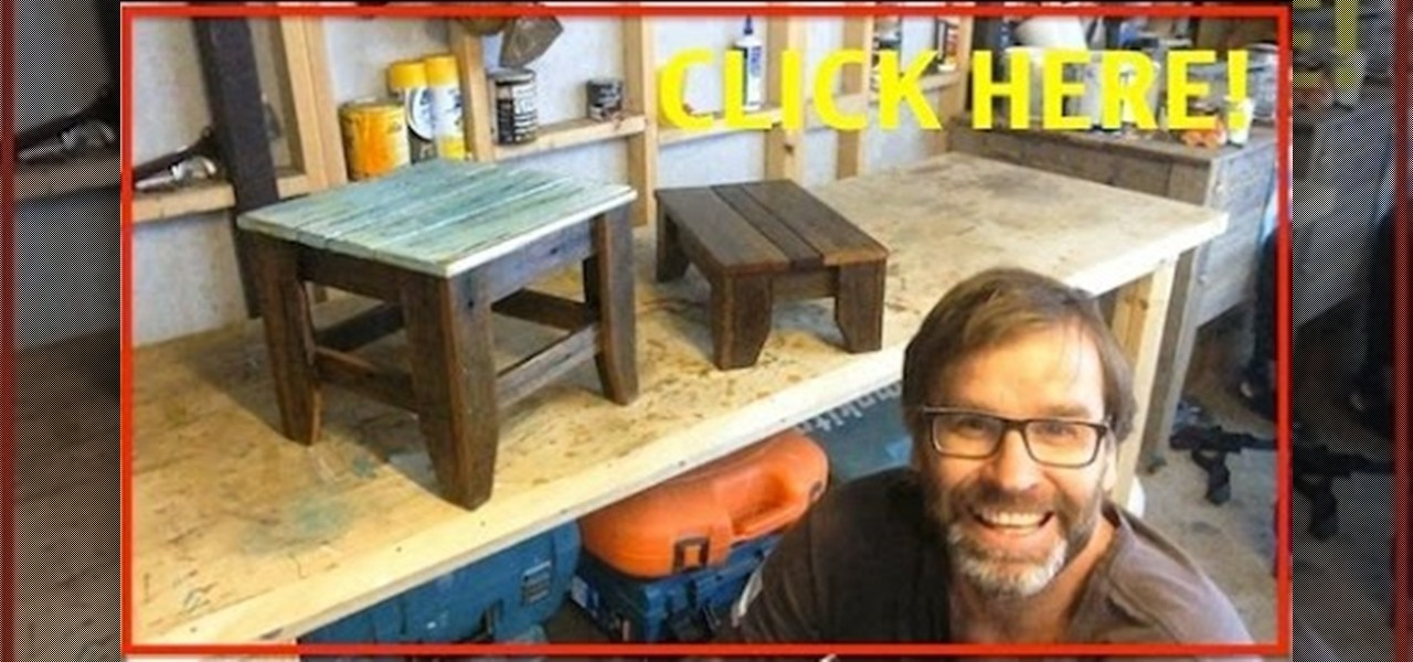 Make a Stool from Recycled Wood.