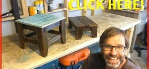 How To Make A Sweet 5 Bar Stool Using Wooden Dowels