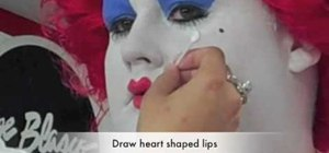 "Recreate the Queen of Hearts makeup from Tim Burton's ""Alice in Wonderland"""