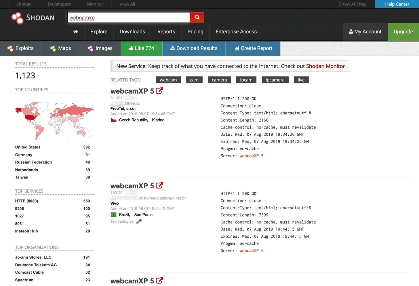 How to Find Vulnerable Webcams Across the Globe Using Shodan « Null