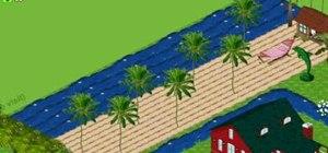 Make an ocean and beach on Farm Town (09/30/09)