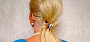 Give yourself an elegant bow updo for formal events