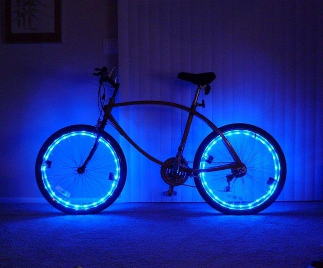 Illuminate Your Bike at Night with These Super Bright DIY Rim Lights Bicycle