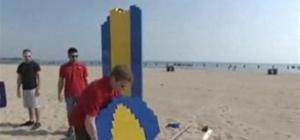 LEGO Surfboard Hangs 10
