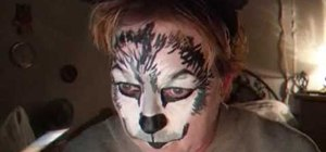 Paint a werewolf face